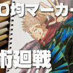 【呪術廻戦】100均マーカーで虎杖悠仁を描いてみた【Drawing Yuji Itadori From Jujutsukaisen】