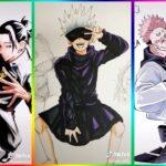 [ティックトック絵] ❤️呪術 廻 戦 ティック トック | Jujutsu Kaisen Painting Tik Tok 💯Japanese Art Style #3