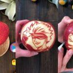【呪術廻戦/五条悟】ごじょうさとる?りんごに彫ってみた!【音フェチ】Jujutsu Kaisen/Gojyo Satoru