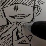 2分で【呪術廻戦 五条悟】描いてみた #呪術廻戦 #五条悟 #描いてみた