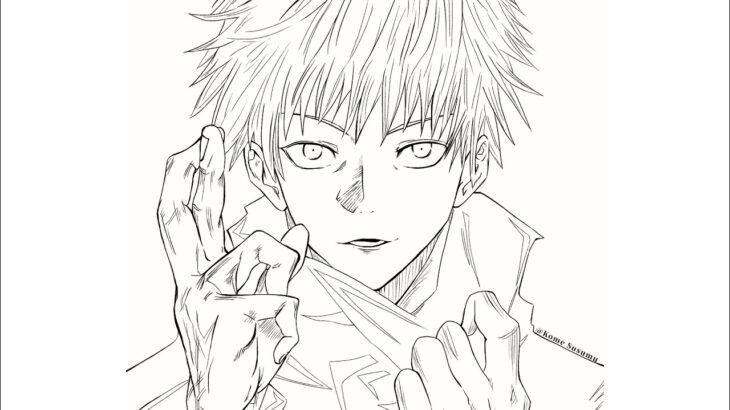【呪術廻戦】五条悟描いてみた/Drawing Satoru Gojo.【Jujutsu kaisen】