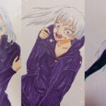 [ティックトック絵] ❤️呪術 廻 戦 ティック トック | Jujutsu Kaisen Painting Tik Tok 💯Japanese Art Style #40