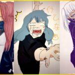 [ティックトック絵] ❤️呪術 廻 戦 ティック トック | Jujutsu Kaisen Painting Tik Tok 💯Japanese Art Style #45