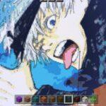 【呪術廻戦】マイクラで五条悟の絵をドット絵に変換してみた。