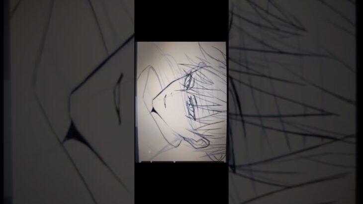 〈手描き〉五条悟メイキング〈呪術廻戦〉