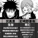 【呪術廻戦】渋谷事変後の生存状況まとめ【最新話までのネタバレあり】