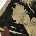 【呪術廻戦】五条悟を10年前の漫画アイテムで描いてみた!Drawing