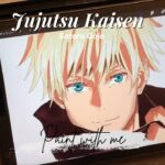[Paint with me] Jujutsu Kaisen – Satoru Gojo – DomainExpansion / 呪術廻戦 五条悟を描いてみた -領域展開