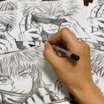 【呪術廻戦】五条悟を超簡単に描く方法教えますパラデル漫画【無量空処】