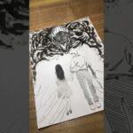 """【呪術廻戦0】乙骨憂太・折本里香を描く【劇場版】Drawing JUJUTSUKAISEN""""0″#Shorts"""
