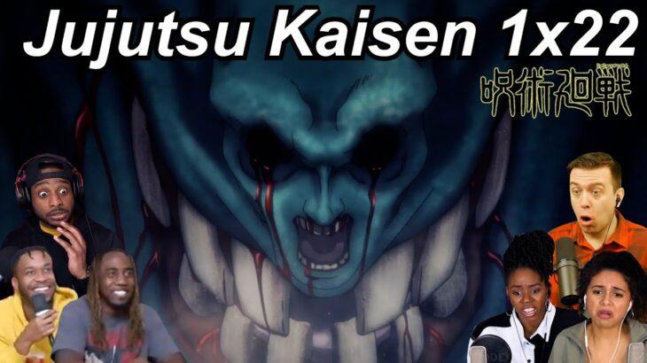 Jujutsu Kaisen 1×22 Reactions | Great Anime Reactors!!! | 【呪術廻戦】【海外の反応】