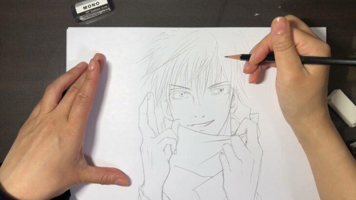【 呪術廻戦 】主婦が 五条悟 描いてみた drawing  | Satoru Gojo | Jujutsukaisen 【 アナログ 】
