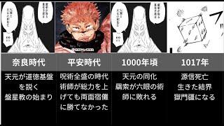 【呪術廻戦】呪術廻戦の歴史がわかる年表