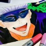 Drawing Gojo Satoru from jyujyutsu Kaisen 呪術廻戦五条 悟描いてみた  イラスト