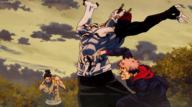 呪術廻戦 || 虎杖の黒い火の破壊パンチは花御の肋骨を破壊します、五条は体を押しつぶす破壊力を解き放つ鞣造、Itadori's destruction punch destroys Hanami