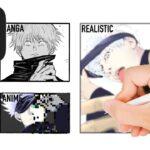 呪術廻戦・五条悟を3パターンで描いてみた。Drawing SATORU GOJO JUJUTSU KAISEN  in 3 Styles【Manga, Anime and Realistic】