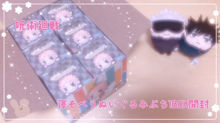 【呪術廻戦】大好きな寝そべりシリーズ!寝そべりぬいぐるみぷちを1BOX開封!!