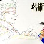 【呪術廻戦/五条悟】第1話「両面宿儺」の原画を描いてみた【MAPPA】/ Drawing Satoru Gojo from Jujutsu Kaisen