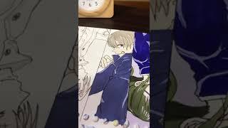 Drawing anime Jujutsu Kaisen《呪術廻戦》-#shorts